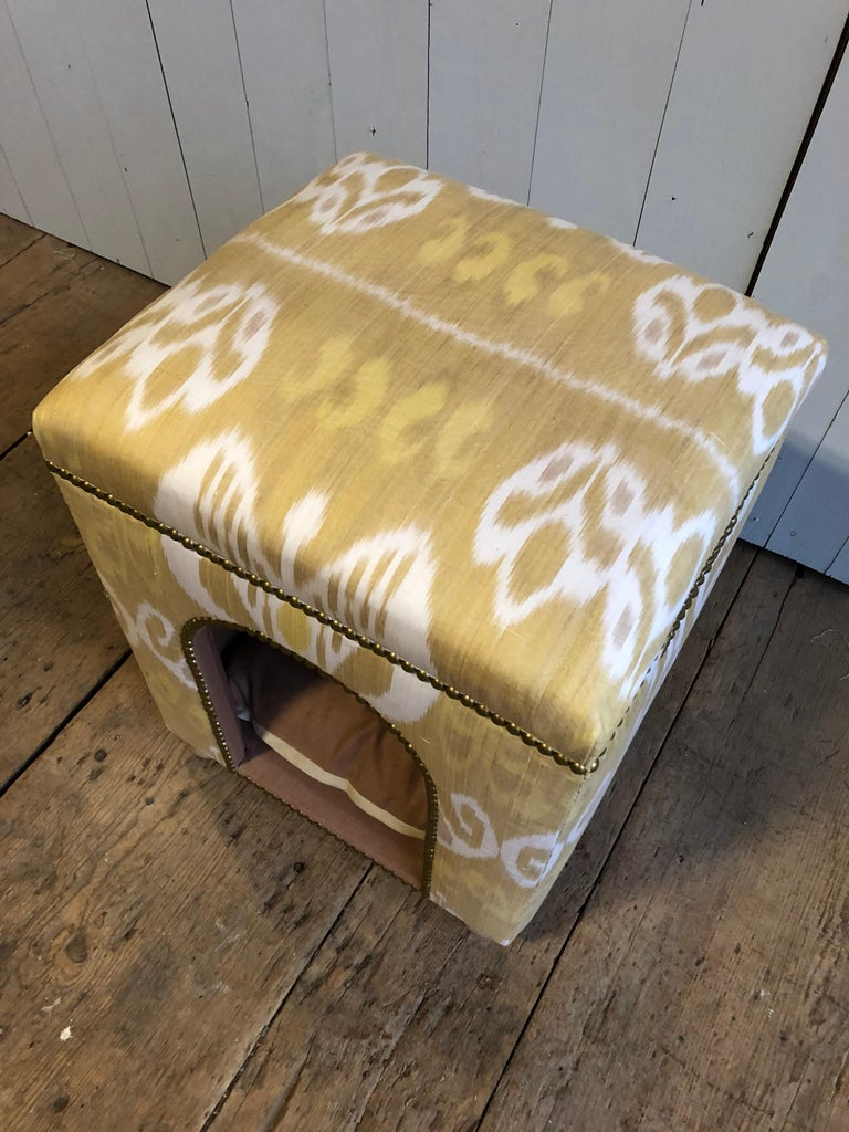 French Custom Ikat Dog Bed For Sale