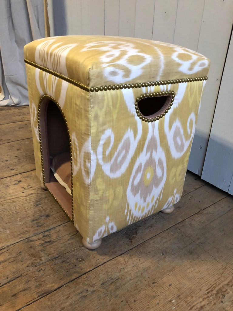 20th Century Custom Ikat Dog Bed For Sale