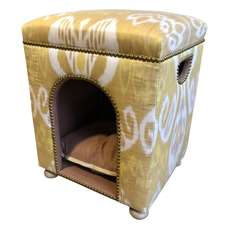 Custom Ikat Dog Bed For Sale