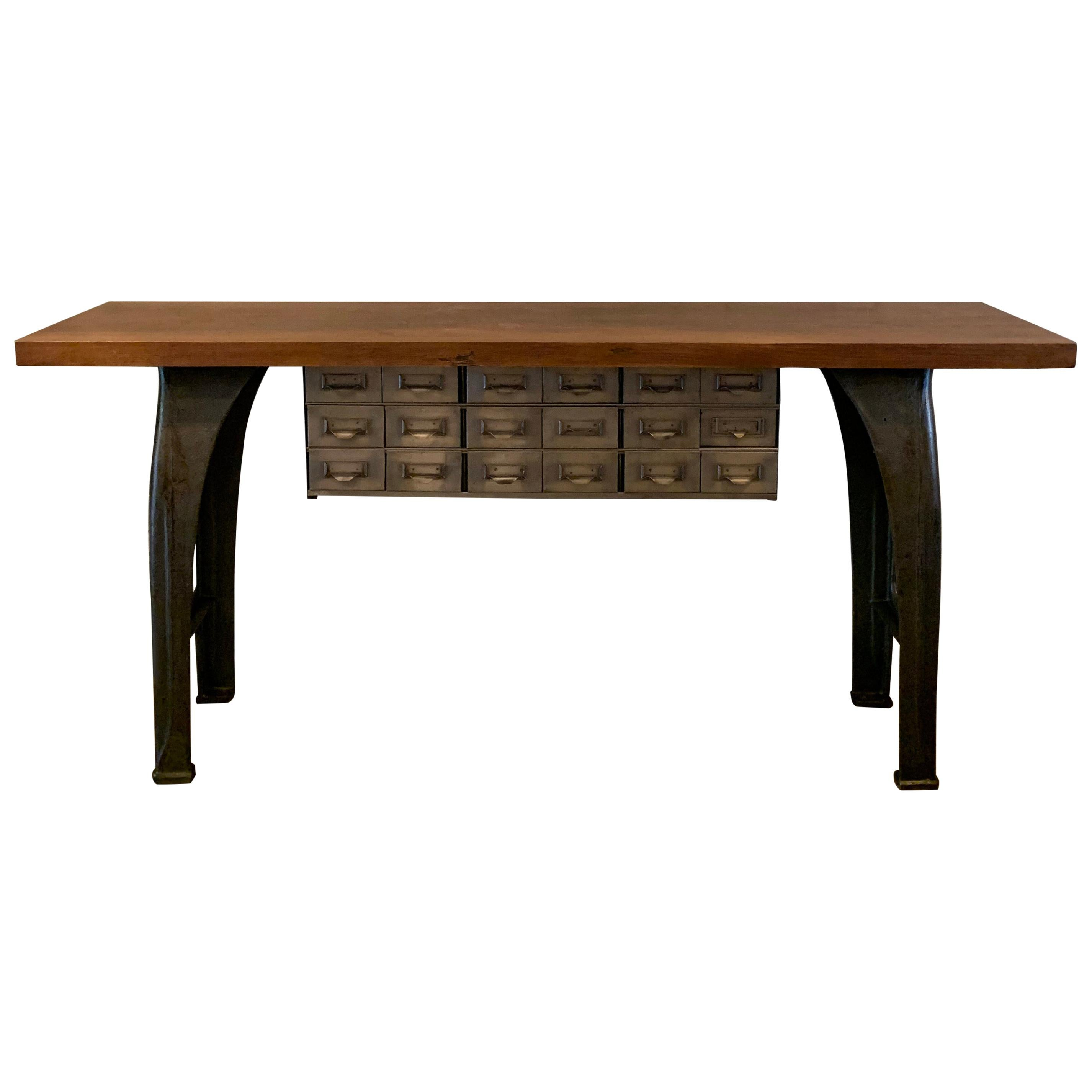 Custom Industrial Console Work Table