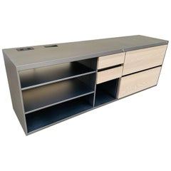 Custom Industrial Credenza in Metal and Wood