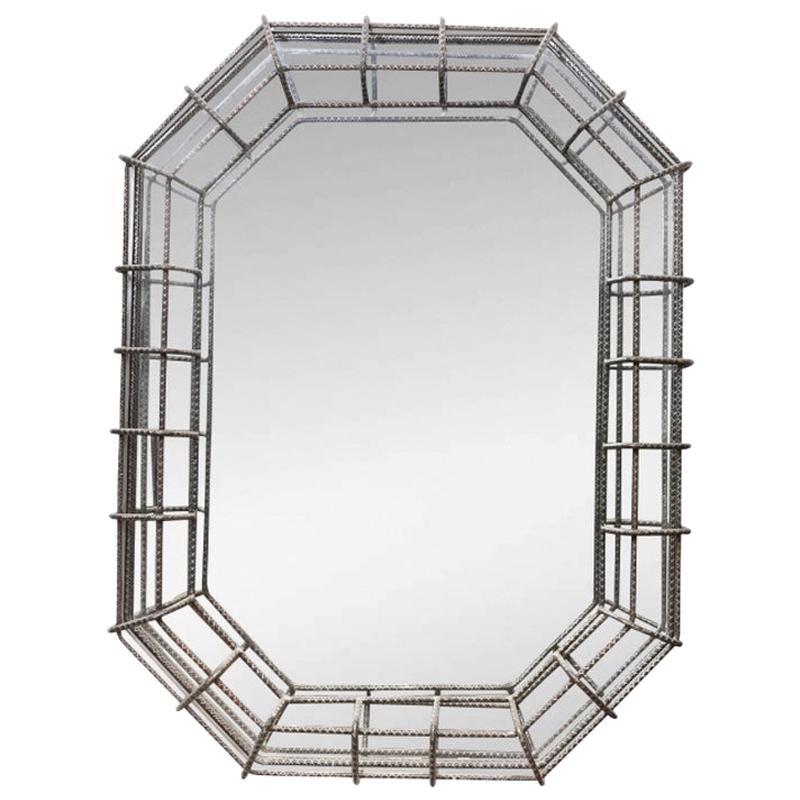 Custom Industrial Style Octagonal Mirror