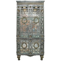 Custom Iron and Brass Cabinet