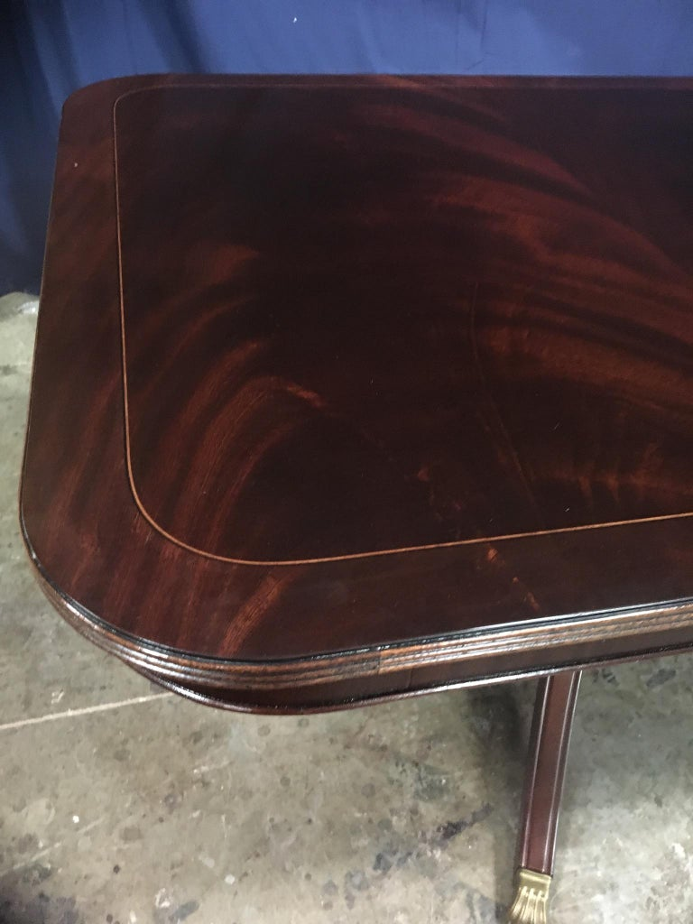 Custom Large Mahogany Georgian Style Dining Table by Leighton Hall For Sale 5