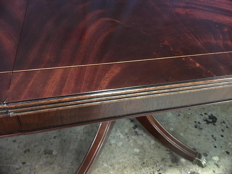 Custom Large Mahogany Georgian Style Dining Table by Leighton Hall For Sale 4