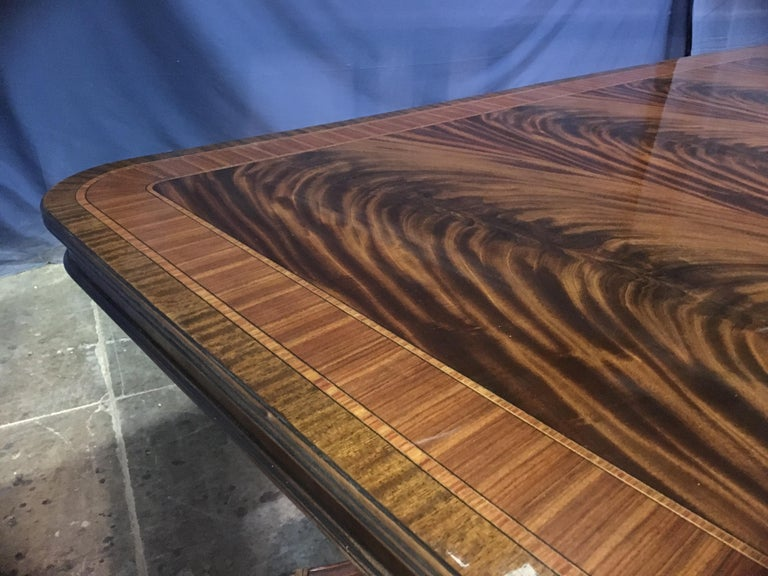 Custom 20 ft. Large Mahogany Banquet Dining Table by Leighton Hall For Sale 6