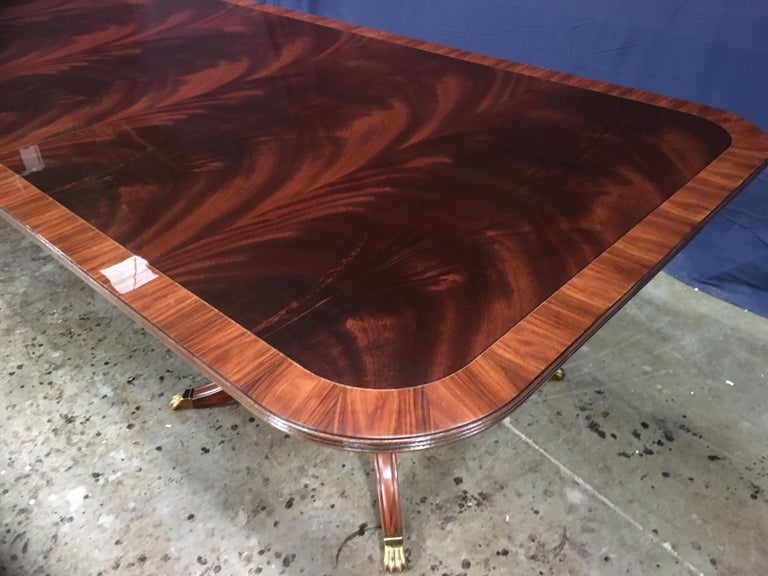 Custom Large Mahogany Banquet Dining Table by Leighton Hall In New Condition For Sale In Suwanee, GA