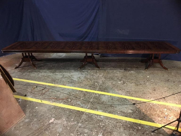 Custom 20 ft. Large Mahogany Banquet Dining Table by Leighton Hall For Sale 1