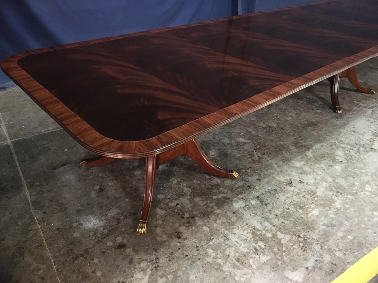 Custom Large Mahogany Banquet Dining Table by Leighton Hall For Sale 2