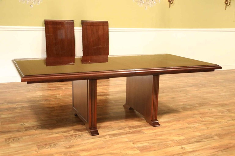 Custom Large Mahogany Rectangular Conference Table by Leighton Hall In New Condition For Sale In Suwanee, GA