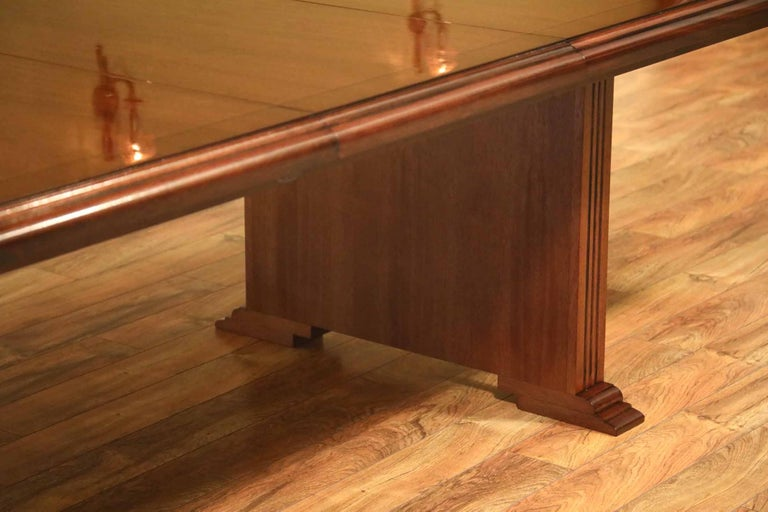 Contemporary Custom Large Mahogany Rectangular Conference Table by Leighton Hall For Sale