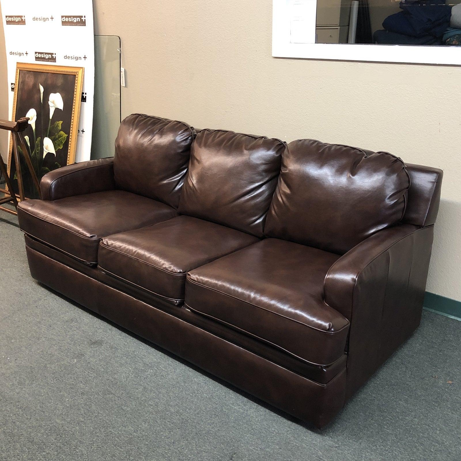 Amazing Custom Leather Sofa By Pottery Barn For Sale At 1Stdibs Gmtry Best Dining Table And Chair Ideas Images Gmtryco