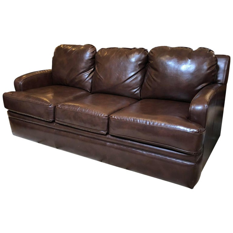 Brilliant Custom Leather Sofa By Pottery Barn For Sale At 1Stdibs Gmtry Best Dining Table And Chair Ideas Images Gmtryco