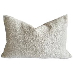 Custom Linen and Wool Blend Accent Lumbar Pillow