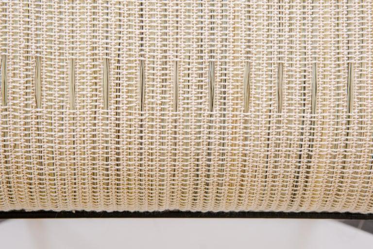 Custom Listing, Handmade Horse Hair and Iron Stool/Bench by J.M. Szymanski For Sale 2