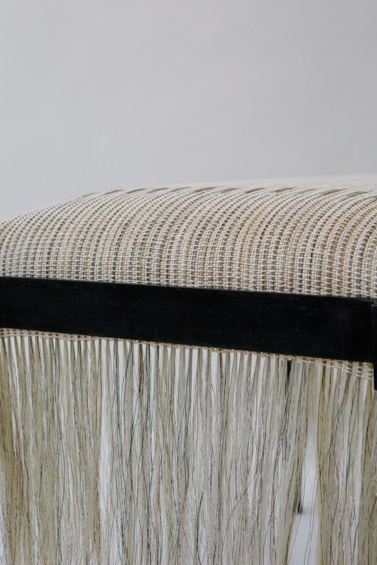 Custom Listing, Handmade Horse Hair and Iron Stool/Bench by J.M. Szymanski For Sale 3