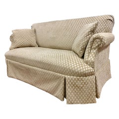 Custom Loveseat Sofa with Raised Trellis Kravet Fabric