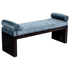 Custom Macassar Modern Art Deco Inspired Accent Bench by Carrocel