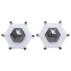 Custom Made Black Diamond Cufflinks by Michael Kanners