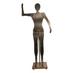 Custom Made Brushed Aluminum Adjustable Mannequin