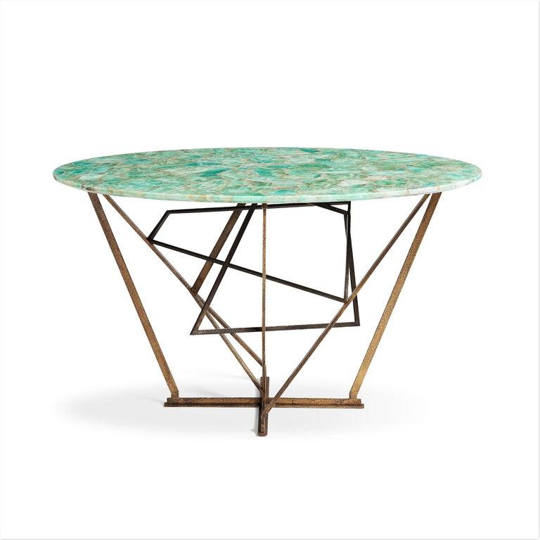 Brass Unique Console Table by Gareth Devonald Smith For Sale