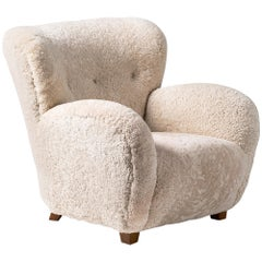 Custom Made Danish Sheepskin Armchair