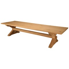 Custom-Made French Inspired Farm Table in Reclaimed White Oak Any Dimension