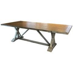 Custom Made Italian Trestle Table