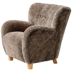 Custom Made Karu Sheepskin Lounge Chair