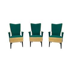 Custom Made Mid-Century Italian Armchairs