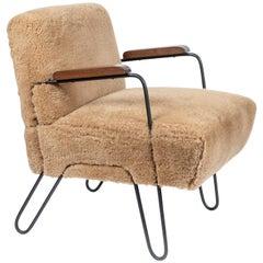 Custom-Made Midcentury Style Hairpin Chair