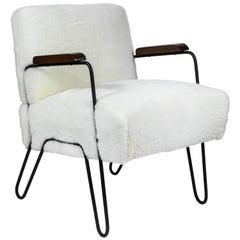 Custom Made Midcentury Style Hairpin Chair