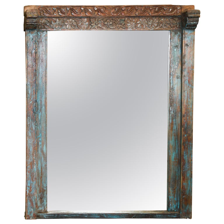 Custom Made Mirror From A Solid Teak Wood Window Frame Of 1850s Settler S Home