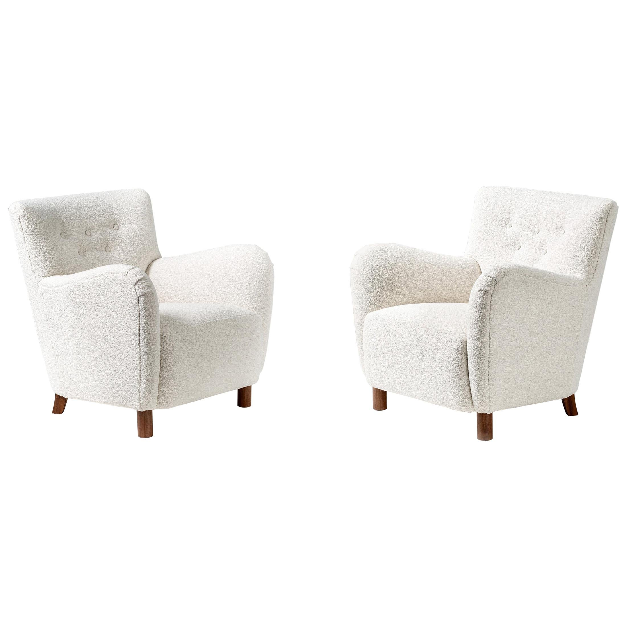 Custom Made Model 54 Boucle Lounge Chairs