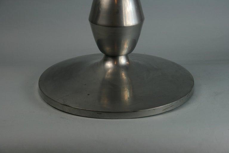 Custom Made Modern Metal Side /Drink Table or Pedestal For Sale 2