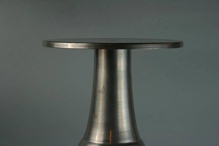 Custom Made Modern Metal Side /Drink Table or Pedestal For Sale 3