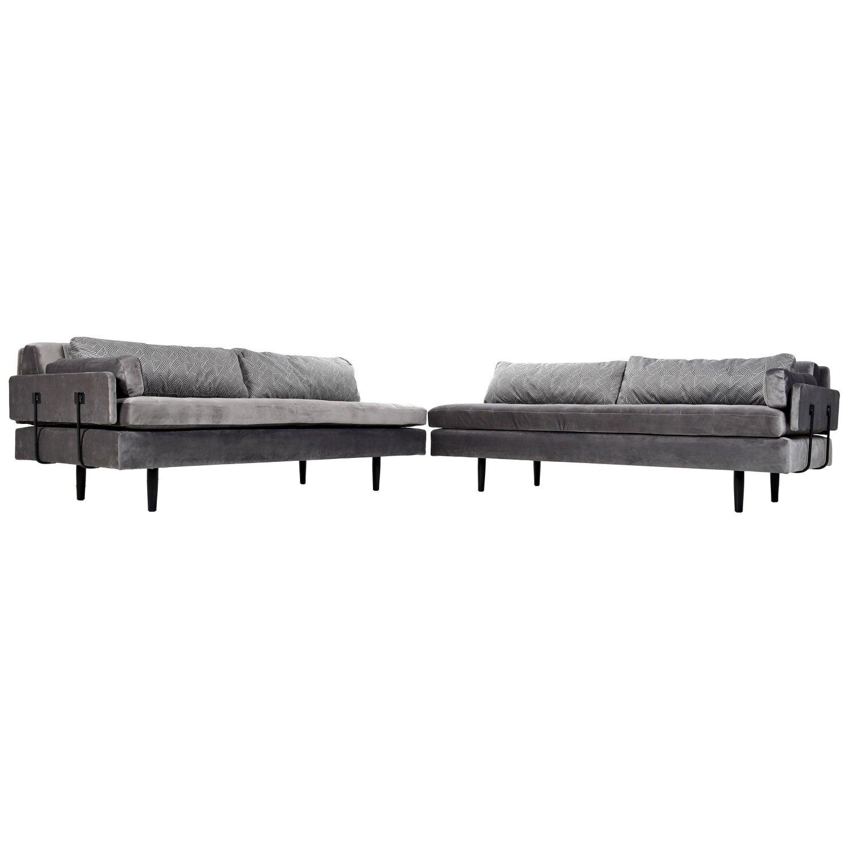 Enjoyable Custom Made Modern Modular Grey Velvet Daybed Sofa Alphanode Cool Chair Designs And Ideas Alphanodeonline