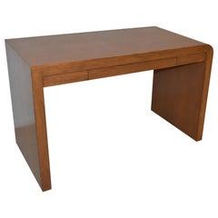 Custom Made Modern Oak Writing Desk with Drawer