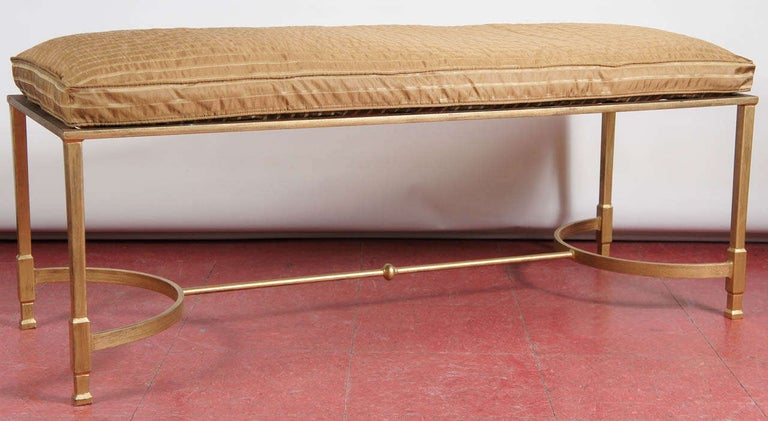American Custom Made Neoclassical Style Metal Bench or Coffee Table For Sale