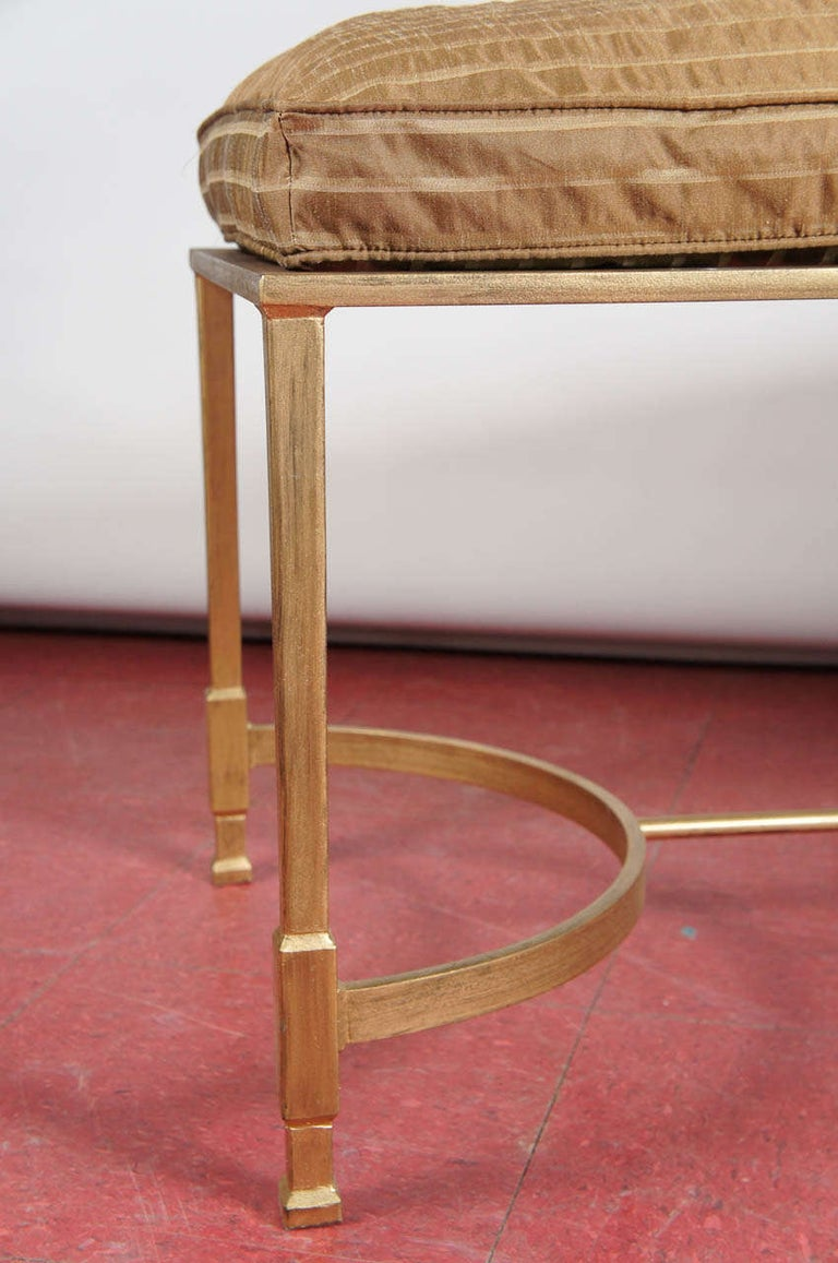 Hand-Crafted Custom Made Neoclassical Style Metal Bench or Coffee Table For Sale