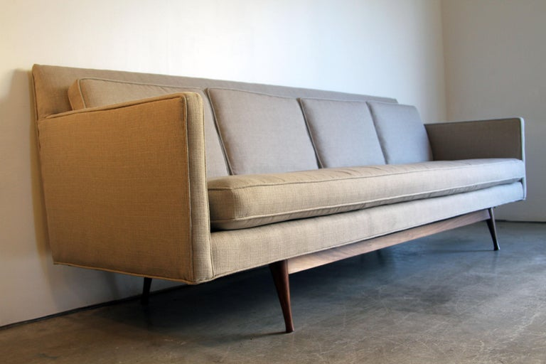 Amsterdam School Custom Made Paul McCobb Sofa Recently Reupholstered For Sale