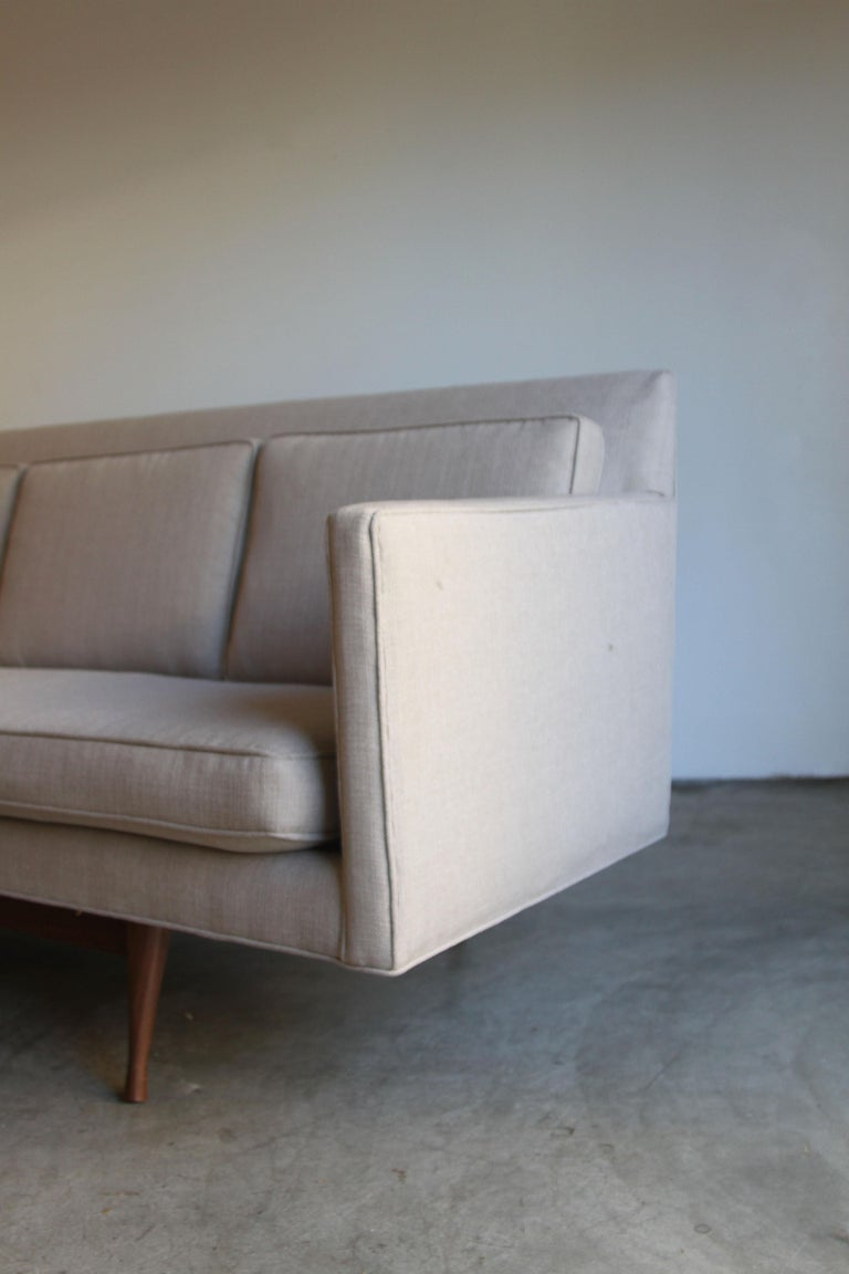 20th Century Custom Made Paul McCobb Sofa Recently Reupholstered For Sale