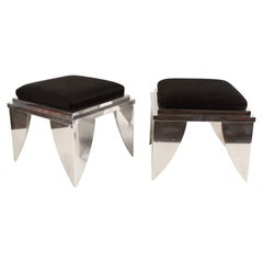 Custom Made Polished Aluminum Ottomans