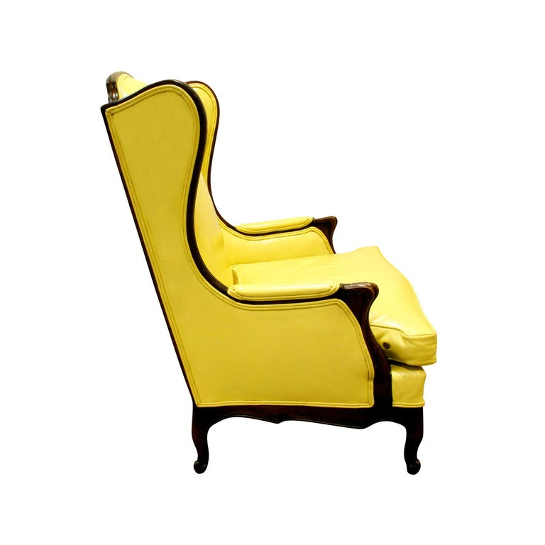 American Custom-Made Regency Style Wing Chair, 1950s, Signed For Sale