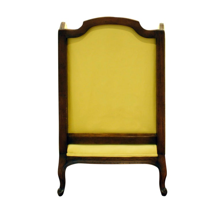 Hand-Crafted Custom-Made Regency Style Wing Chair, 1950s, Signed For Sale