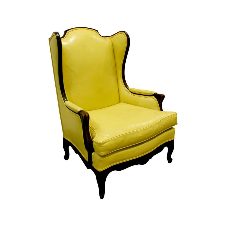 Custom-Made Regency Style Wing Chair, 1950s, Signed For Sale