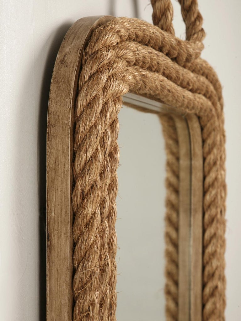 American Custom Made Rope Nautical Themed Wall Mirror in Any Dimension For Sale