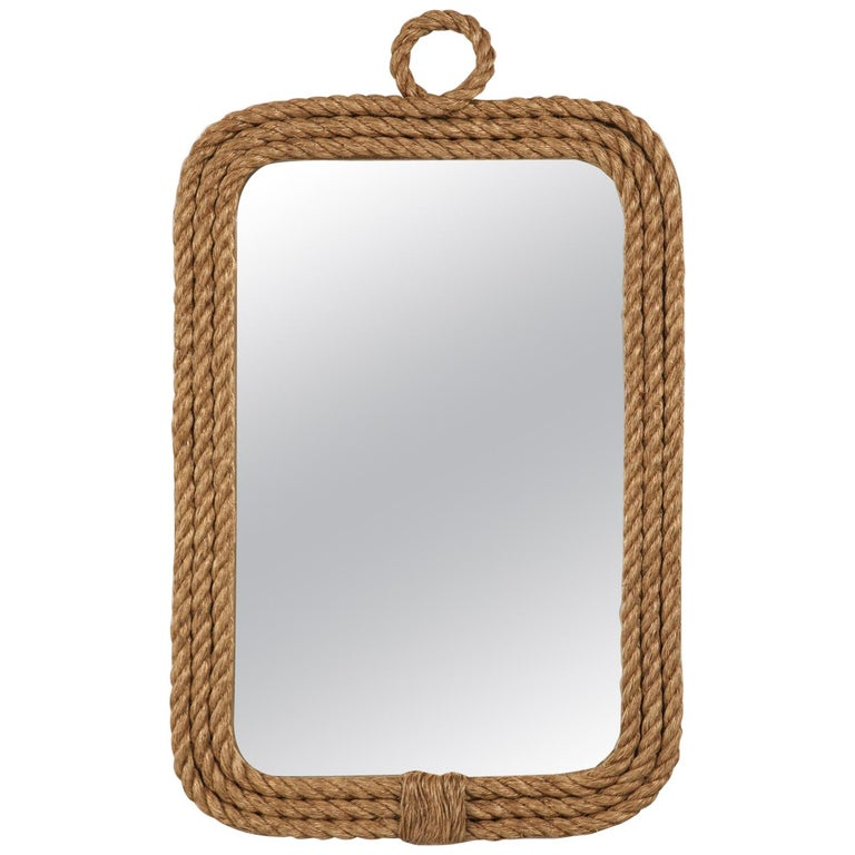 Custom Made Rope Nautical Themed Wall Mirror in Any Dimension For Sale