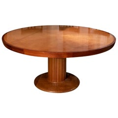 Custom Made Round Pedestal Table by Stephen Piscuskas