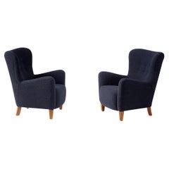 Custom Made RYO Boucle Lounge Chairs